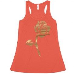 Gold Metallic Rose