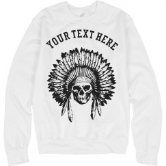 Chief Skull Native American Headdress Custom Sweatshirt