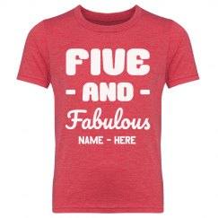 Five & Fabulous Custom Birthday Tee