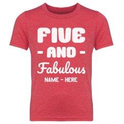 Five & Fabulous Custom Birthday Tee