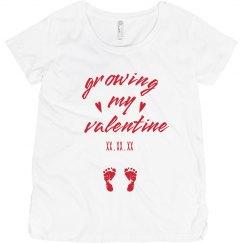 Growing My Valentine Custom Maternity Tee