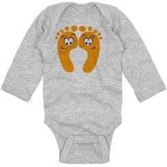 Happy Feet Baby Bodysuit