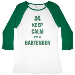 Irish Keep Calm I'm A Bartender