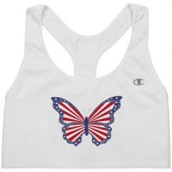 Patriotic Butterfly Sport