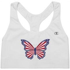 Patriotic Butterfly Sport