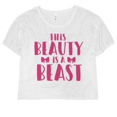 This Beauty Is A Beast Crop Top