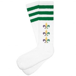 Fleur Mardi Gras Socks