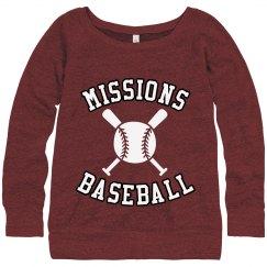Ladie's sweatshirt x bats