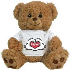 Hand Heart Prom Bear