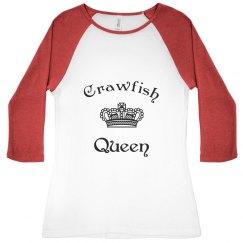 Crawfish Queen baseball shirt