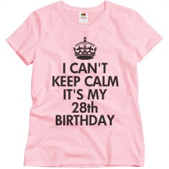 It's my 28th Birthday