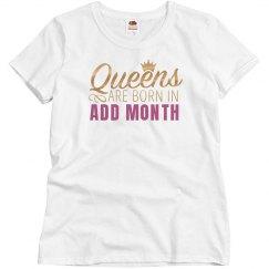 Metallic Custom Birthday Queen