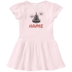 Personalized Name Castle Dress