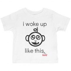 Toddler boy woke up Tee