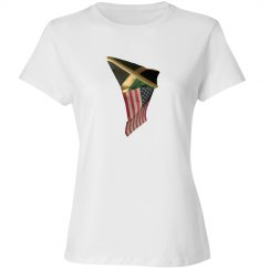 Jamaican-American Flapping Flags Short Sleeve Tee