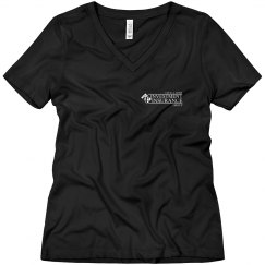 CAR Ladies Relaxed Fit V-Neck Tee BLACK