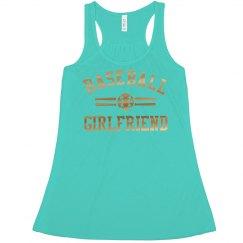 Metallic Trendy Baseball Girlfriend