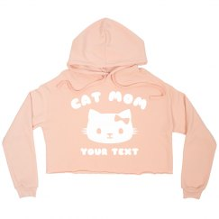 Cat Mom Custom Crop Hoodie