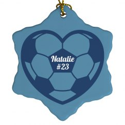 Soccer Christmas Ornament With Custom Name Number