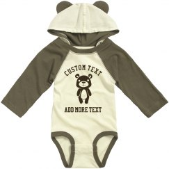 Custom Text Baby Hooded Ears