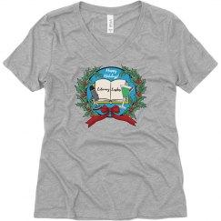 Literary Lushes Happy Holidays Edition VNeck Tshirt