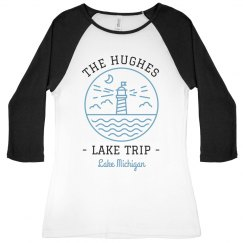 Custom Family Vacation Lake Trip Raglans