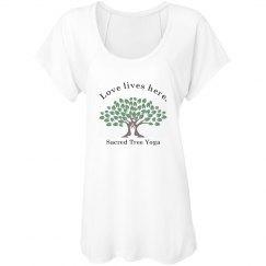 Sacred tree yoga; Love Lives here.