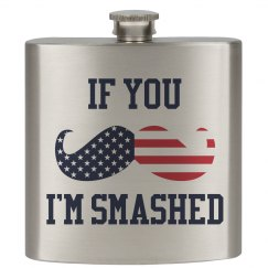 Funny July 4th Drinking Flask