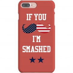 Funny USA July 4th Drinking Case
