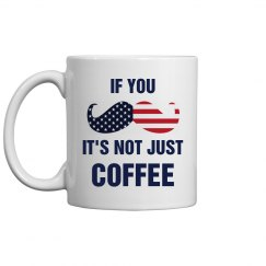 July Fourth Coffee Mug Mustache