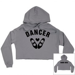 Cute Custom Dance Crop Sweatshirt