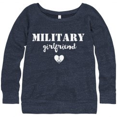 Trendy Text Military Girlfriend
