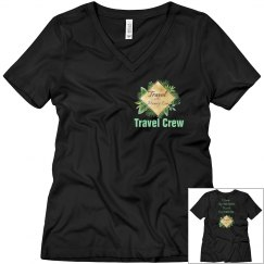 Travel Fills your Soul - Black  V neck - Ladies