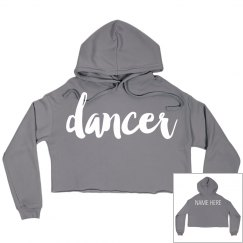 Dancer Custom Crop Sweatshirt