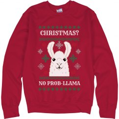 Llama Pun Ugly Christmas Sweater