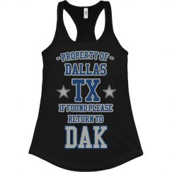 Property Of Dallas Football Tank - Black