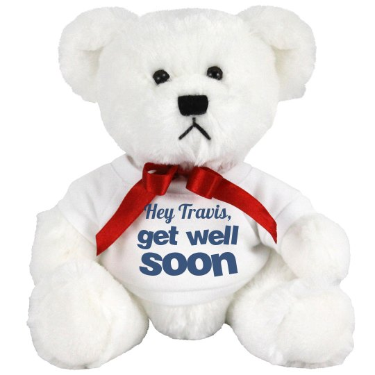 Get Well Soon Message 8 Inch Teddy Bear Stuffed Animal