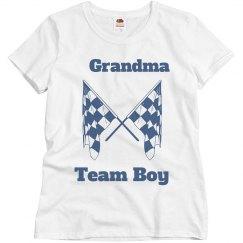 Lala's mom gender reveal shirt
