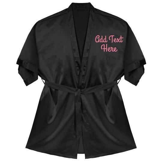 2277c09d6c Custom Printed Robes For Groups Satin Kimono Short Robe