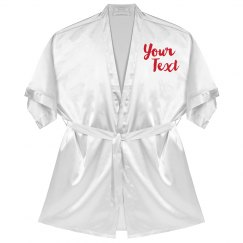 Customizable Robe With Text