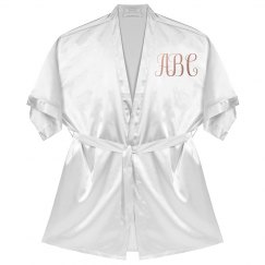 Custom Printed Monogram Robe