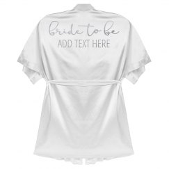 Bride To Be Custom Metallic Text