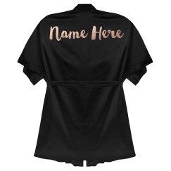 Metallic Rose Gold Custom Name