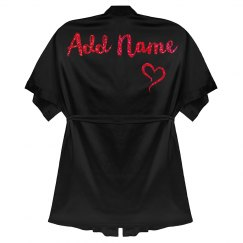 Custom Red Glitter Personal Name