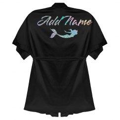 Custom Glitter Name Mermaid