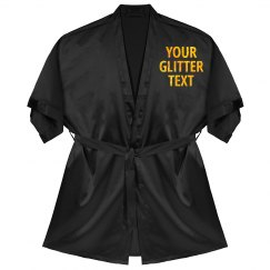 Custom Glitter Text Bathrobe Gift