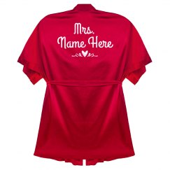 Mrs. Name Valentine Heart Robe