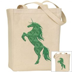 Green Fire Unicorn Bag