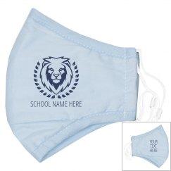 Custom Text School Mascot Mask
