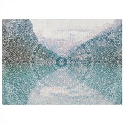 Mountains & Mandalas Print Rug